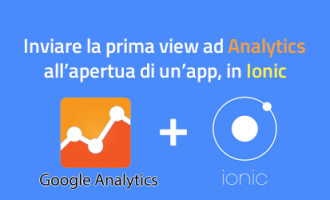 ionic - inviare la prima view a google analytics all'apertura dell'app