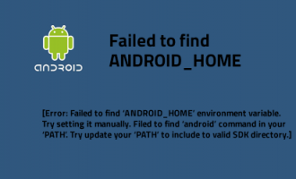 Failed to find 'ANDROID_HOME' environment variable. Try setting setting it manually